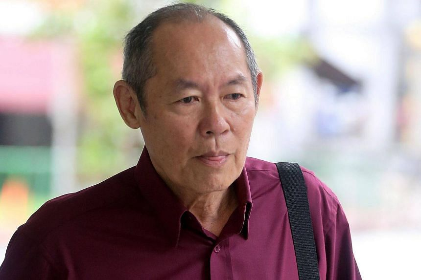 Gan Thean Soo was charged in court with harassing and assaulting a foreigner on board an MRT train in April 2017.