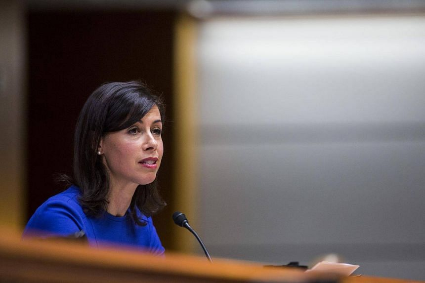 Jessica Rosenworcel, commissioner at the Federal Communications Commission (FCC), speaks during an open meeting in Washington.