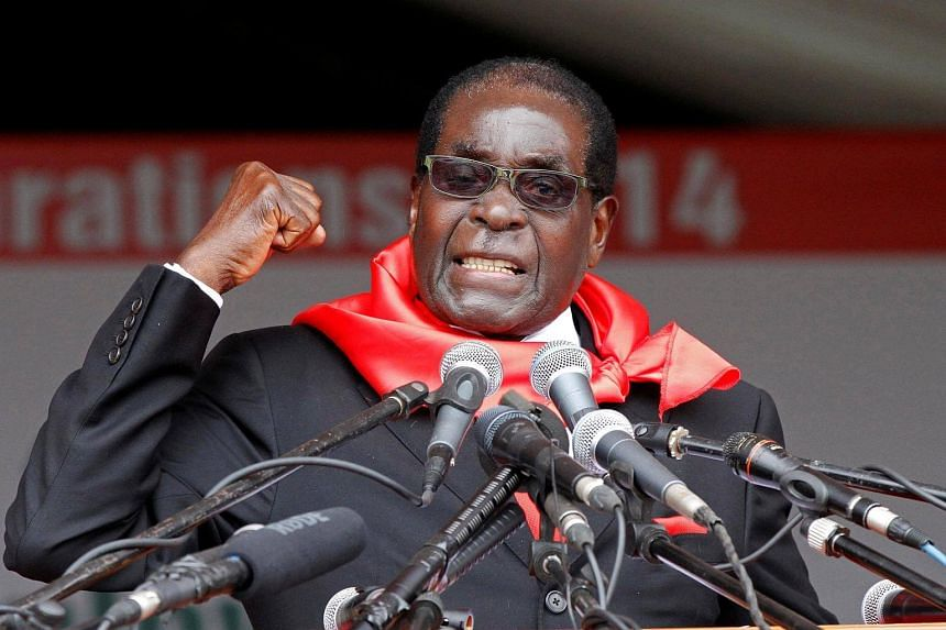 Zimbabwe President Robert Mugabe addresses supporters during celebrations to mark his 90th birthday in Marondera.