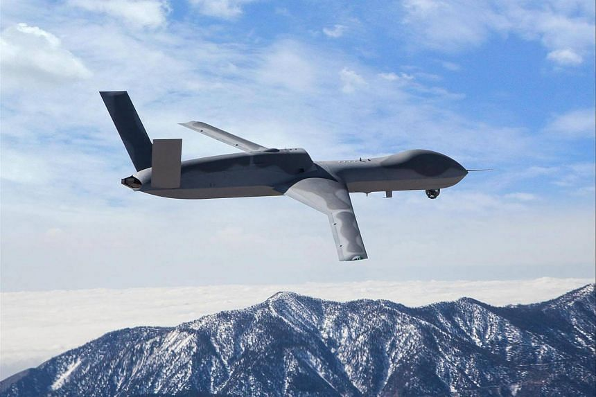 The Avenger drone has a wingspan of 76 feet and would potentially be used to shoot down North Korean missiles as they are launched.