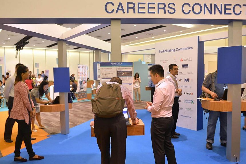 Jobseekers at the Adapt and Grow Virtual Career Fair in Jurong.