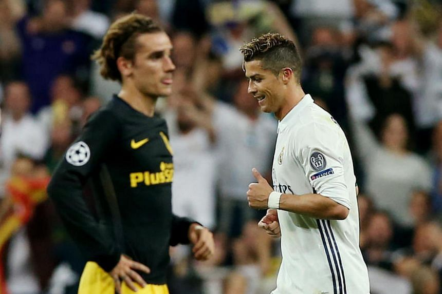 Real Madrid and Atletico Madrid key men Cristiano Ronaldo (right) and Antoine Griezmann (left) have been firing blanks so far this season in the Spanish La Liga.
