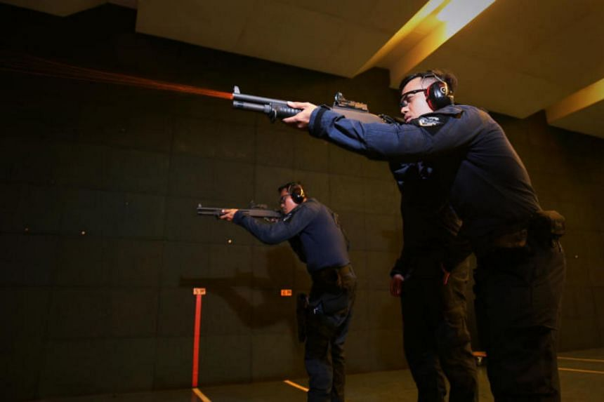"""The Remington 870 Modular Combat Shotgun can be used to fire less lethal """"super sock"""" shells in a prison riot situation. The """"super sock"""" is like a small bean bag that packs a punch and can bring a man down from as far as 10m. Anybody hit by a """"super"""