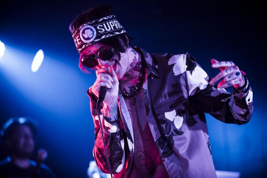 The rapper Lil Peep performs at Webster Hall in New York.