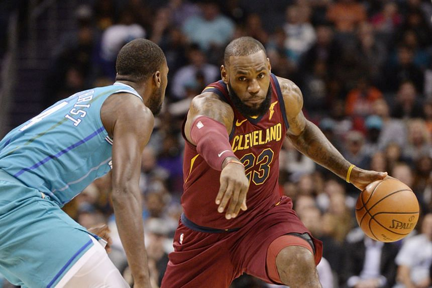 Cleveland Cavaliers forward LeBron James driving past Charlotte Hornets' Michael Kidd-Gilchrist on Wednesday. This was the Cavs' seventh win on the bounce against the Hornets.