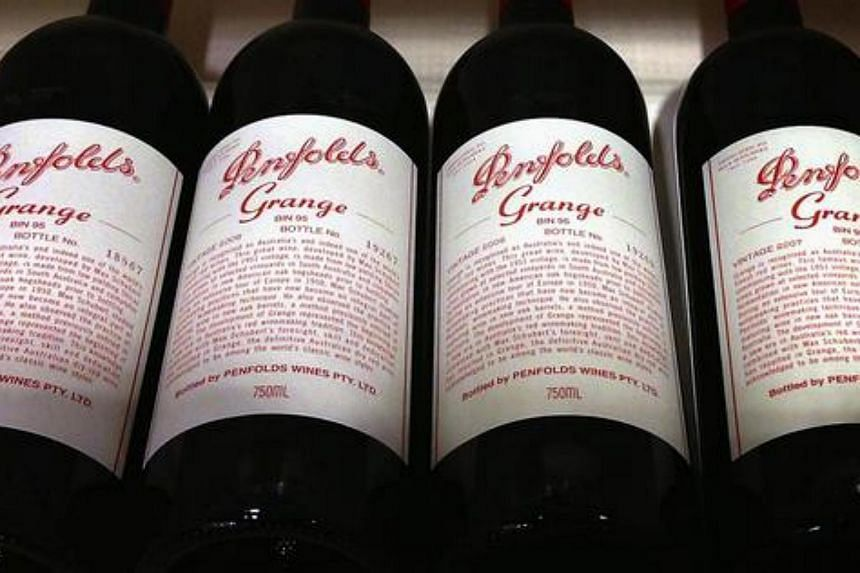 More than 14,000 bottles of fake premium Australian Penfolds wine valued at 10 million yuan (S$2 million) were seized in Shanghai.