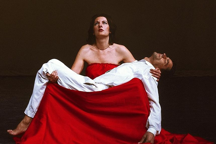 This photo of performance artist Marina Abramovic's work will be on display at the museum.