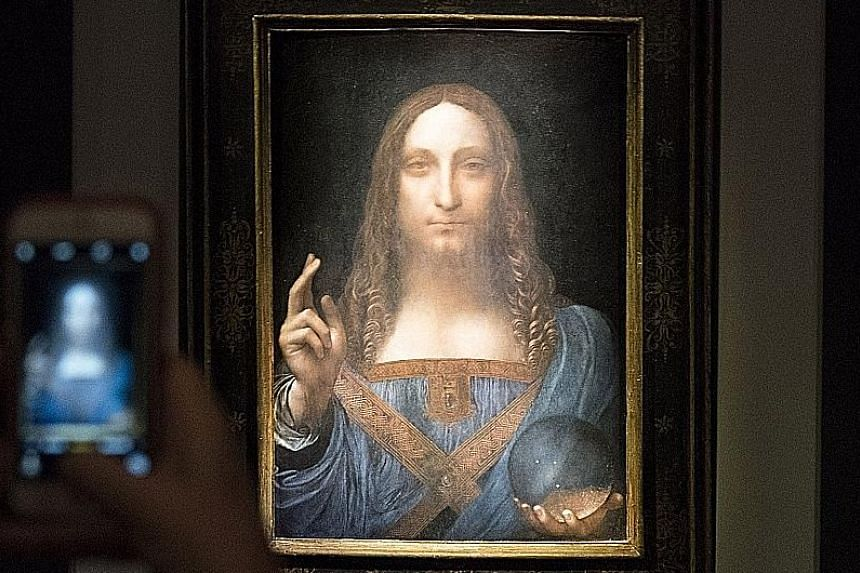 The painting, Salvator Mundi, depicts Jesus holding a transparent crystal orb in his left hand.