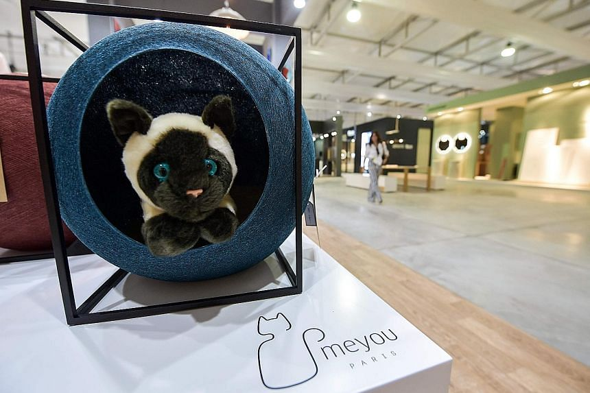 This designer cathouse (right) by Paris-based brand Meyou Paris is among the exhibits on show at this year's Dubai Design Week, which ends today. The six-day affair features a diverse line-up of programmes, with myriad creations for almost everybody.
