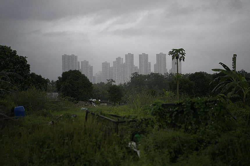 Housing development in Iskandar, Johor, seen from Lim Chu Kang. The largest oversupply of residential properties is found in southern Johor state.