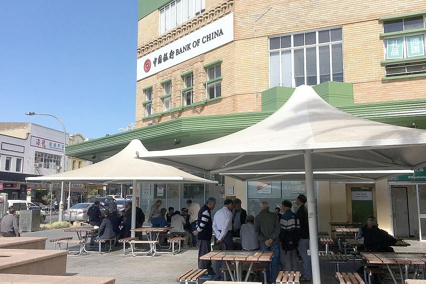 A street in Hurstville with an Asian supermarket and a storefront with Chinese words. According to the 2016 census, 49.4 per cent of Hurstville's 30,000-odd residents are of Chinese ancestry, compared with just 5 per cent who have Australian ancestry