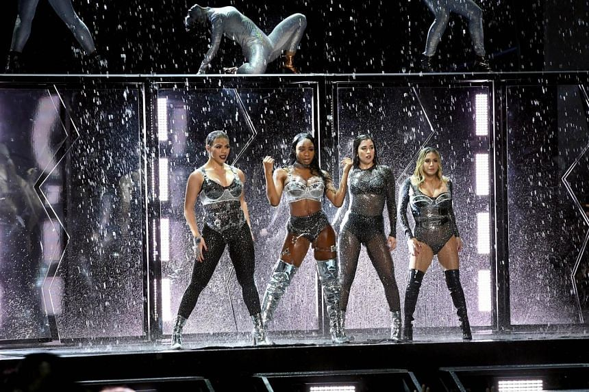 (From far left) Dinah Jane, Normani Kordei, Lauren Jauregui and Ally Brooke performing at the MTV Video Music Awards in California on Aug 27.