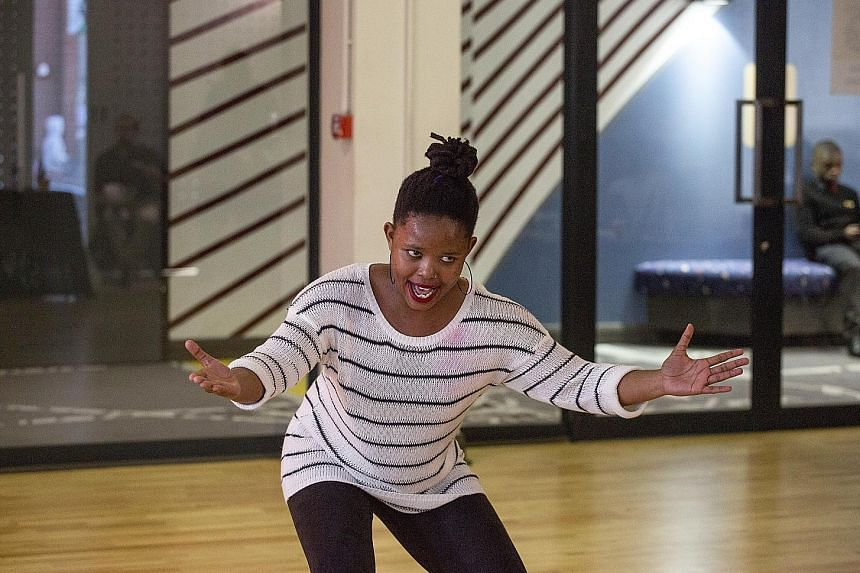 A miner's daughter, Ms Fumane Moeketsi, 23, auditions for The Lion King in Johannesburg.