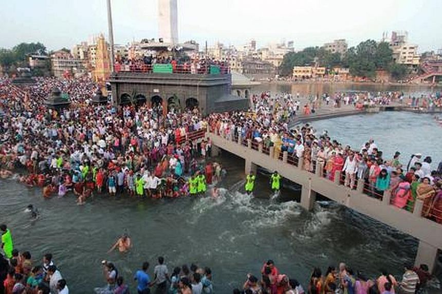 Kumbh Mela, one of two popular festivals singled out in the audio clip, is the world's largest religious gathering with tens of millions of pilgrims taking a dip in the river Ganges to wash away their sins.