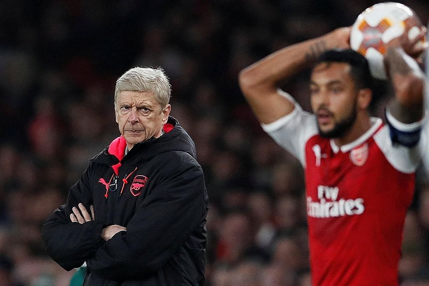 Arsene Wenger, watching Theo Walcott take a throw-in against Red Star Belgrade, needs his side to catch up with rivals Tottenham Hotspur. They trail Mauricio Pochettino's side by four points after 11 games this season.