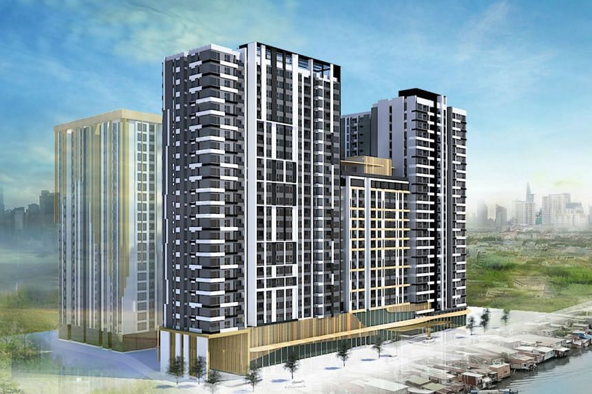 An artist's impression of CapitaLand's planned residential development in District 4 of Ho Chi Minh City.
