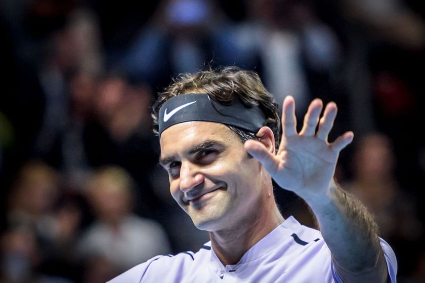"""Goffin said he has """"never found a key"""" to beating Roger Federer (above)."""