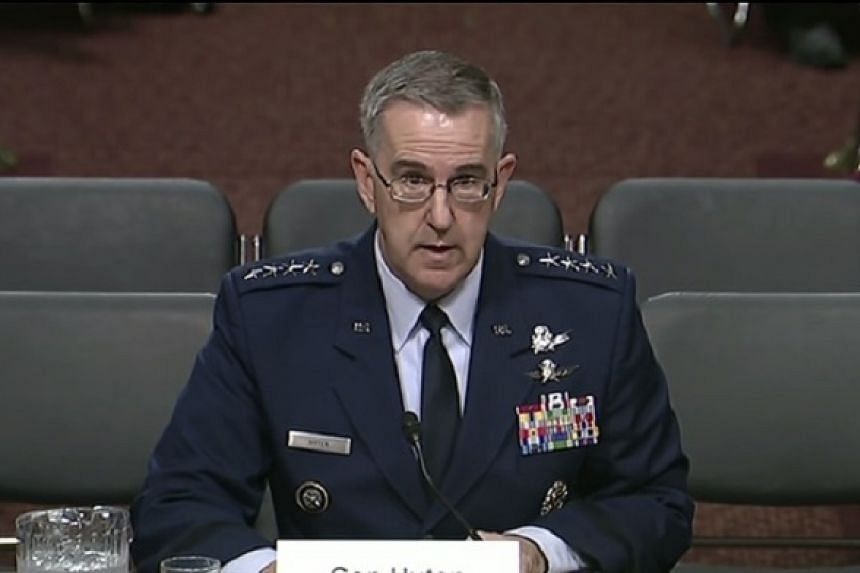 Hyten (above) said he had given a lot of thought to what he would say if he received such an order.