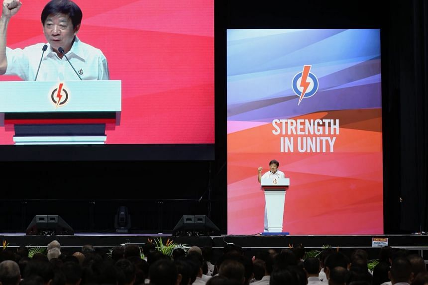 PAP chairman Khaw Boon Wan speaks at the PAP Awards and Convention 2017.