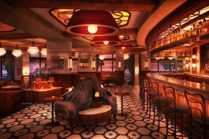 A rendering of the Main bar at Lavo Singapore.