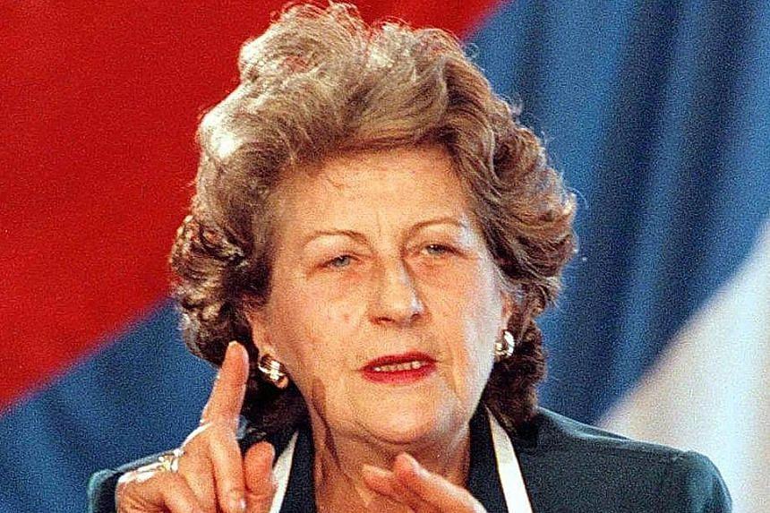 Bosnian Serb President Biljana Plvsic