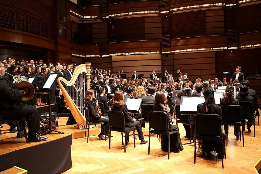 The Singapore Symphony Orchestra (SSO) made its return to Malaysia after 17 years, with a performance at the Dewan Filharmonik Petronas in Kuala Lumpur yesterday. The orchestra (left), which performed a selection of masterpieces by German composer Jo