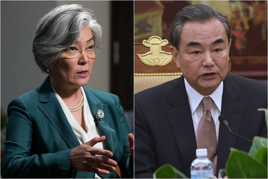 South Korea's Foreign Minister Kang Kyung Wha (left) will hold bilateral talks with Chinese Foreign Minister Wang Yi, according to the ministry.
