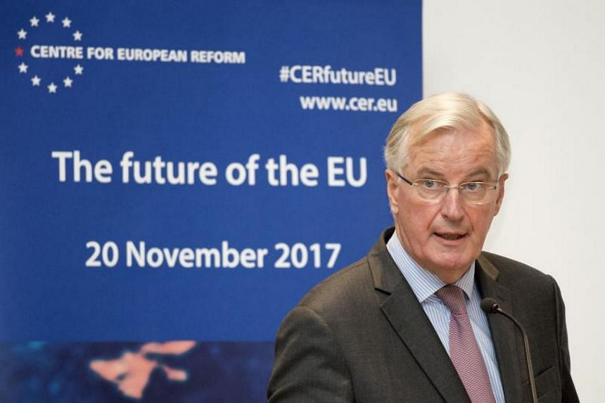 EU Brexit chief Michel Barnier warned Britain it had to come up with a solution to avoid imposing a hard border between Ireland and British-ruled Northern Ireland if it wanted talks on its departure from the bloc to move on to trade.