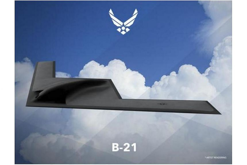 An artist rendering of the Northrop Grumman Corp B-21 bomber released on Feb 26, 2016.