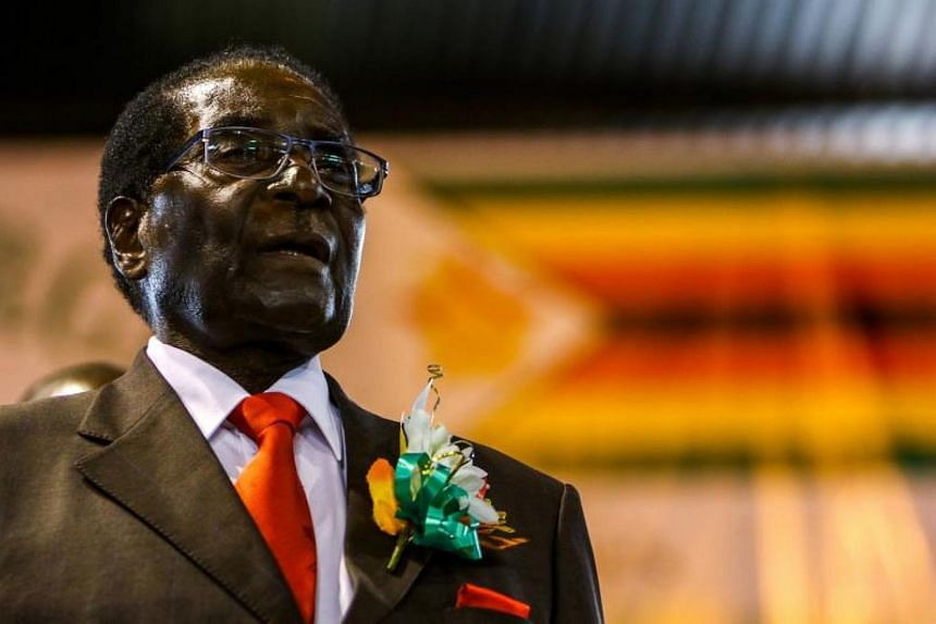 A file photo of Zimbabwe President Robert Mugabe attending a meeting with the Zimbabwe National Liberation War Veterans Associatioin in Harare, on April 7, 2016.