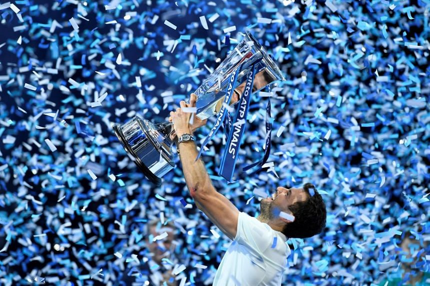Grigor Dimitrov's unbeaten run in London earned him a cool US$2.5 million (S$3.3 million), with the 1,500 ranking points catapulting him to an impressive third place on the year-end rankings - behind only tennis greats Rafael Nadal and Roger Federer.