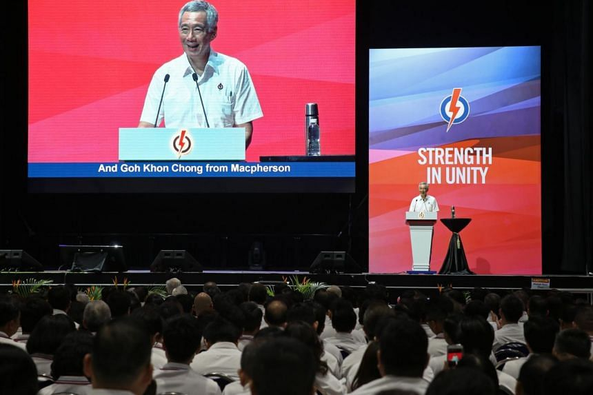 PM Lee Hsien Loong speaks at the PAP Awards and Convention 2017 at Big Box, on Nov 19, 2017.