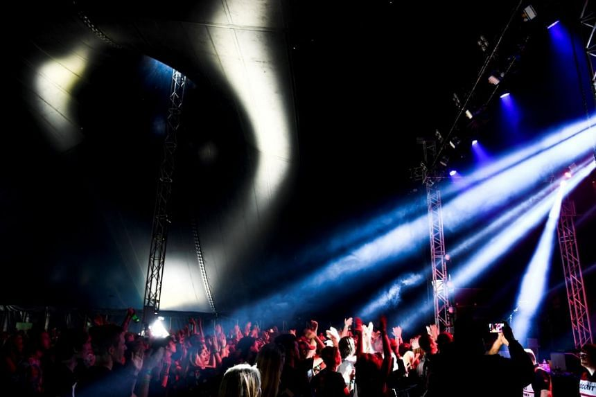 People attending the Bravalla Festival, on June 29. Organisers announced they were cancelling the 2018 event after police received four rape and 23 sexual assault reports.