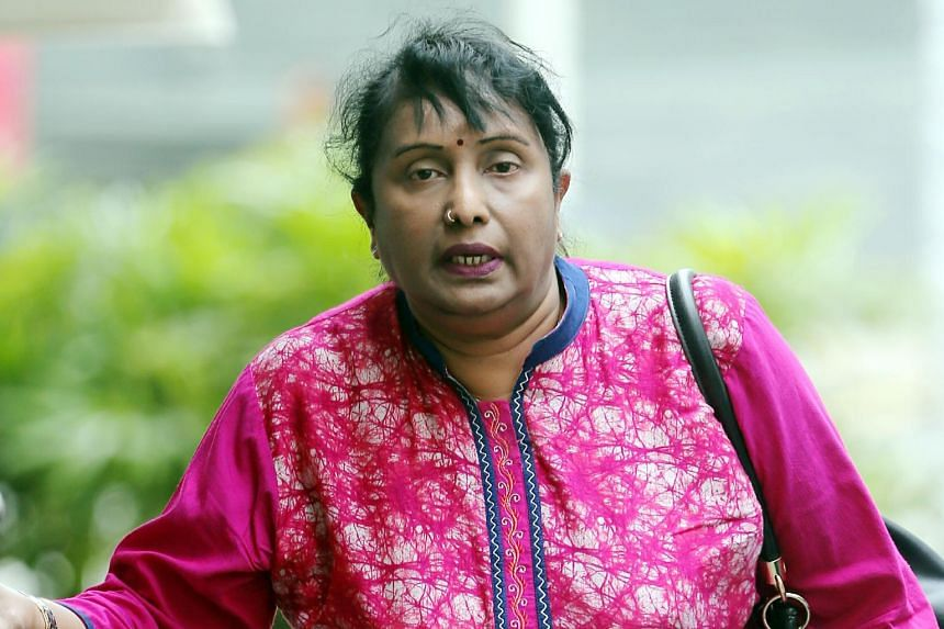 K. Rajakumari, 57, repeatedly abused her maid in 2012, and once, even hit the latter with a plastic hanger until it broke.