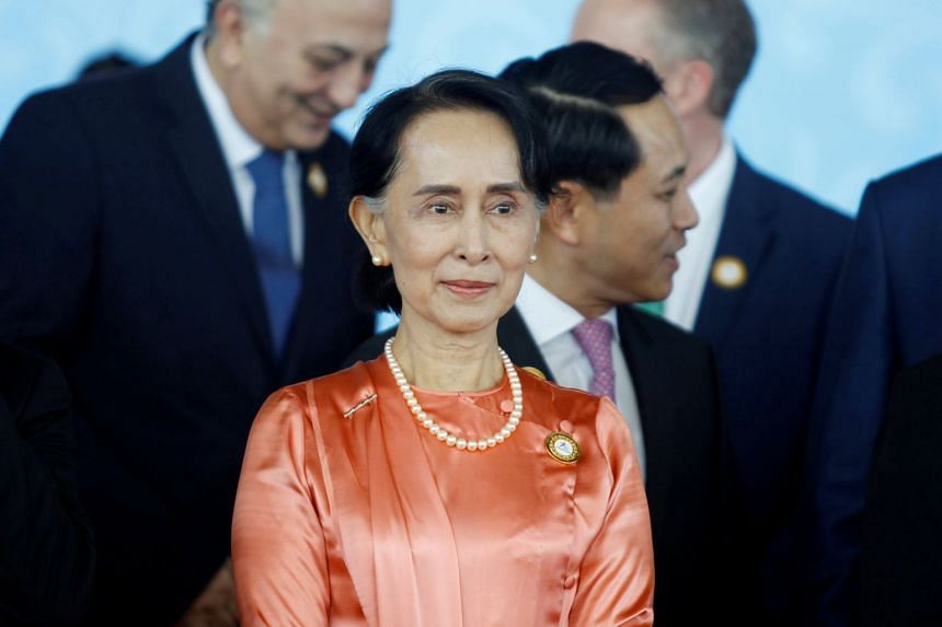 Myanmar State Counselor Aung San Suu Kyi attends the 13th Asia Europe Foreign Ministers Meeting (ASEM) in Naypyitaw.