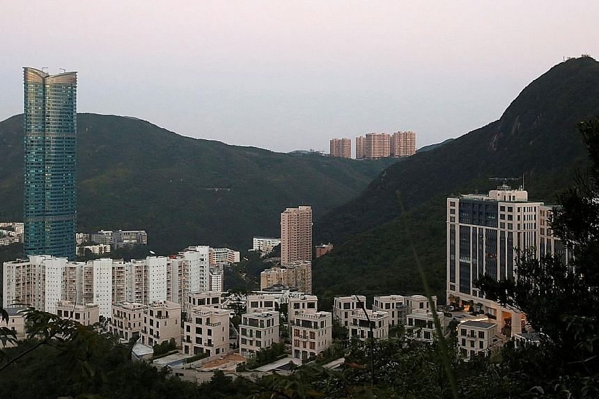 A general view of the Mount Nicholson project developed by Wheelock and Co. The luxury apartment at The Peak was sold for HK$560 million (S$97.5 million) to an unidentified buyer, according to the South China Morning Post.