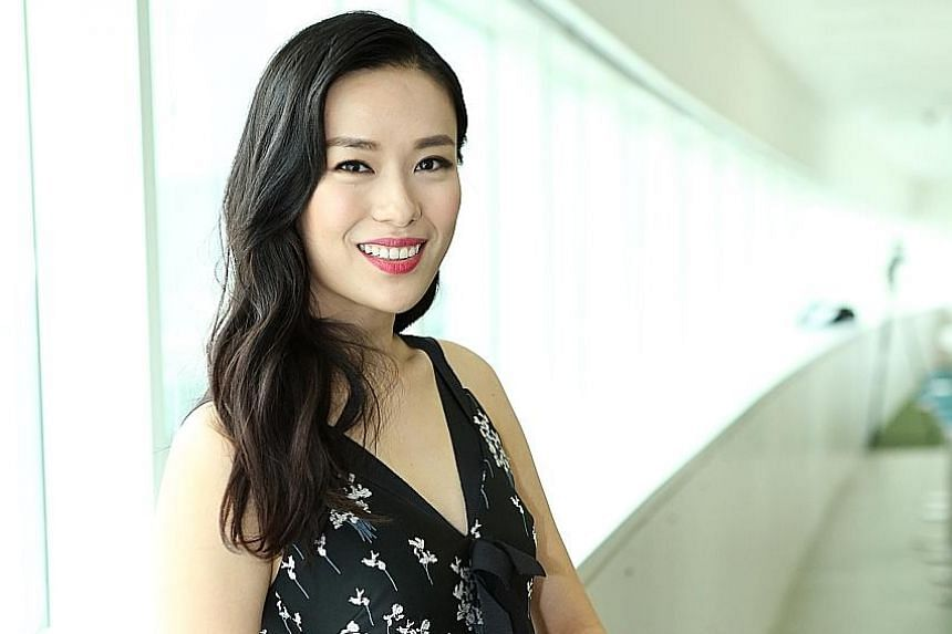 Actress Rebecca Lim (above) and home-grown musical group The Teng Ensemble (left).