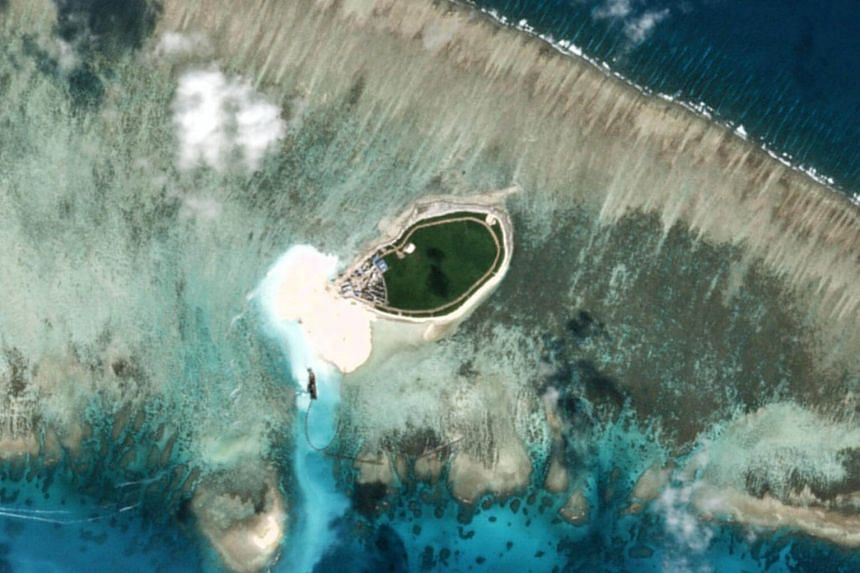 The Chinese-controlled Tree Island, part of the Paracel Islands group in the South China Sea.