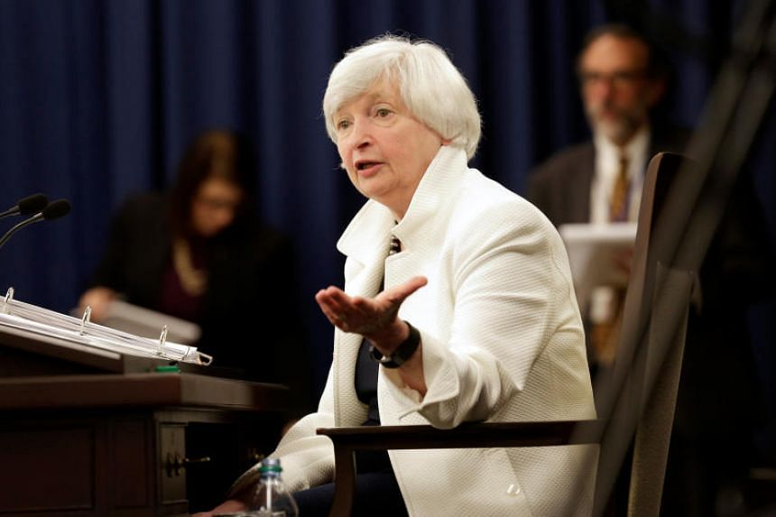 Federal Reserve Chairman Janet Yellen at a news conference after a two-day Federal Open Markets Committee policy meeting in Washington, US, on Sept 20, 2017.