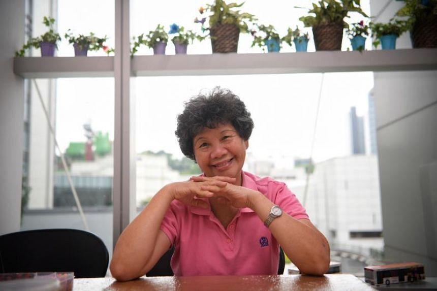 Caregiver Phang Jin Guat at the new Caregivers Sanctuary in National University Hospital on Nov 21, 2017.
