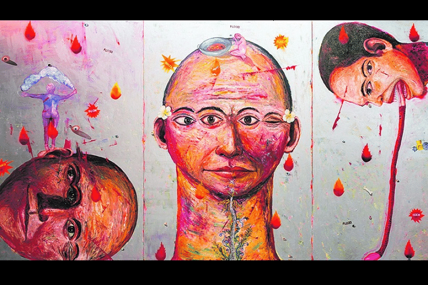 Melt (triptych) by Entang Wiharso is one of Museum Macan's top works.