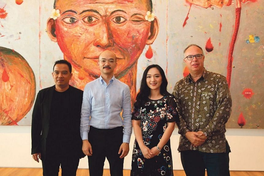 From left: Agung Hujatnika, co-curator of Jakarta Biennale; Museum Macan's director, Aaron Seeto; chairwoman Fenessa Adikoesoemo; and Charles Esche, co-curator and director of the Van Abbemuseum in Eindhoven, the Netherlands.