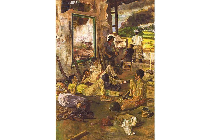 Ngaso (Resting) (1964) by social realist painter S. Sudjojono.