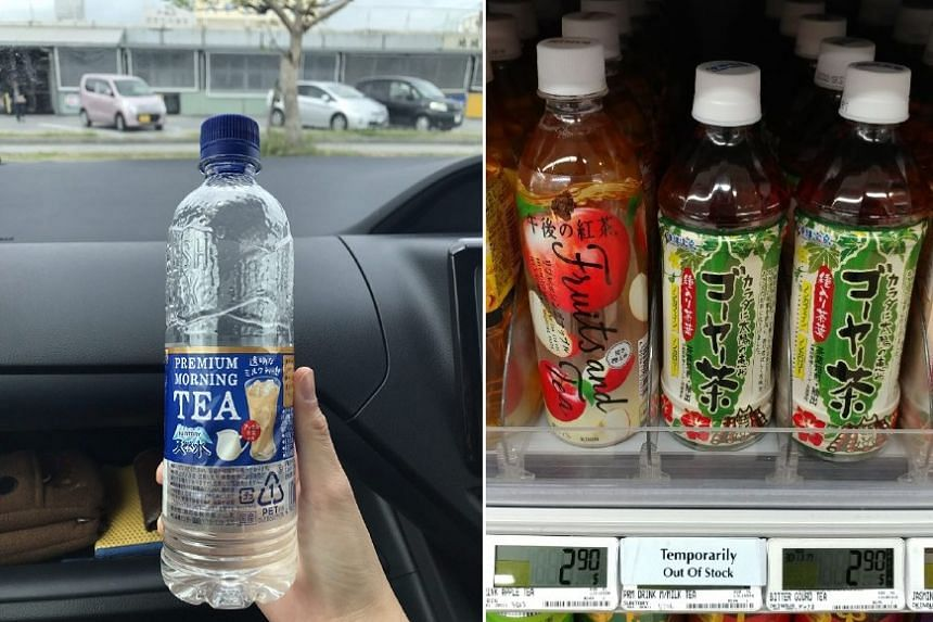 The clear transparent tea (pictured left in Okinawa last month) has been selling out in Singapore since its introduction last month. It was sold out at Bishan's FairPrice Finest outlet on Friday (Nov 17) evening when ST visited.