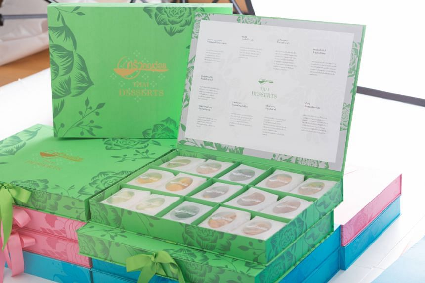 The gift boxes will cost 999 Thai baht (S$41) each and contain nine different kinds of Thai desserts created by 24 well-known shops.