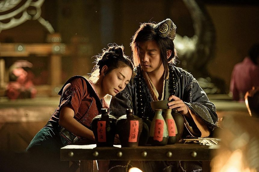 Zheng Kai and Kitty Zhang star in The Golden Monk.