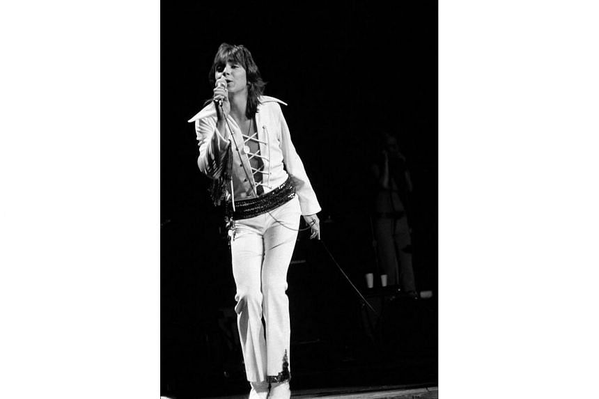 David Cassidy performing in a concert at Madison Square Garden in New York, on March 11, 1972.