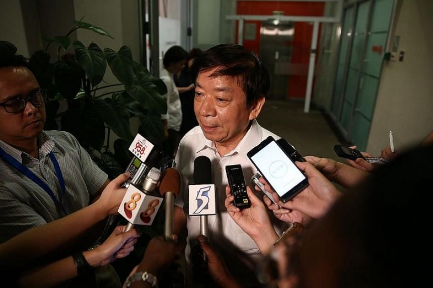 Minister for Transport Khaw Boon Wan giving a door stop on the Joo Koon train incident which occurred on Nov 15, 2017.