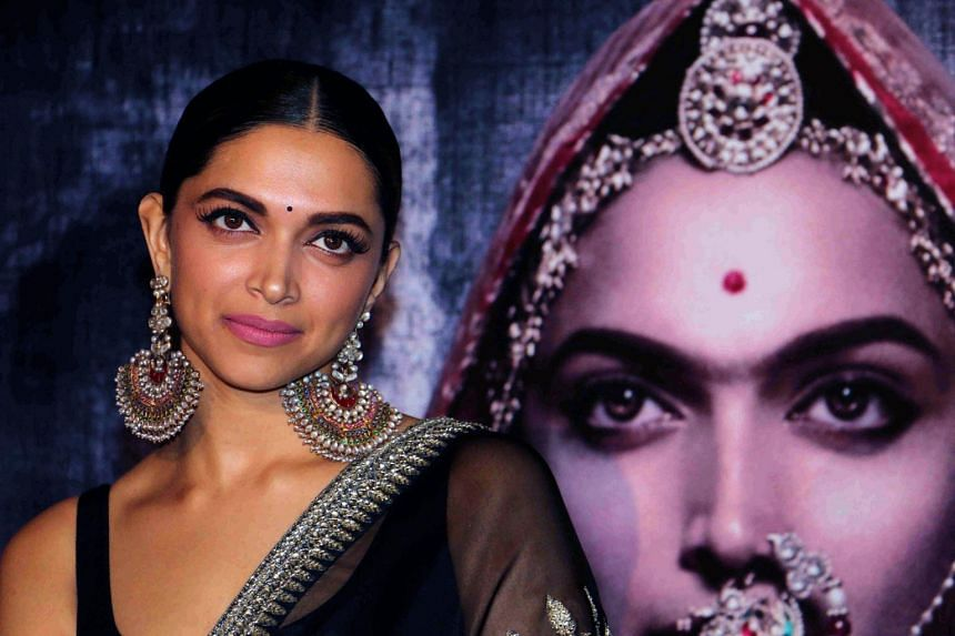 Indian Bollywood actress Deepika Padukone poses for a photograph during a promotional event for the Hindi film Padmavati.