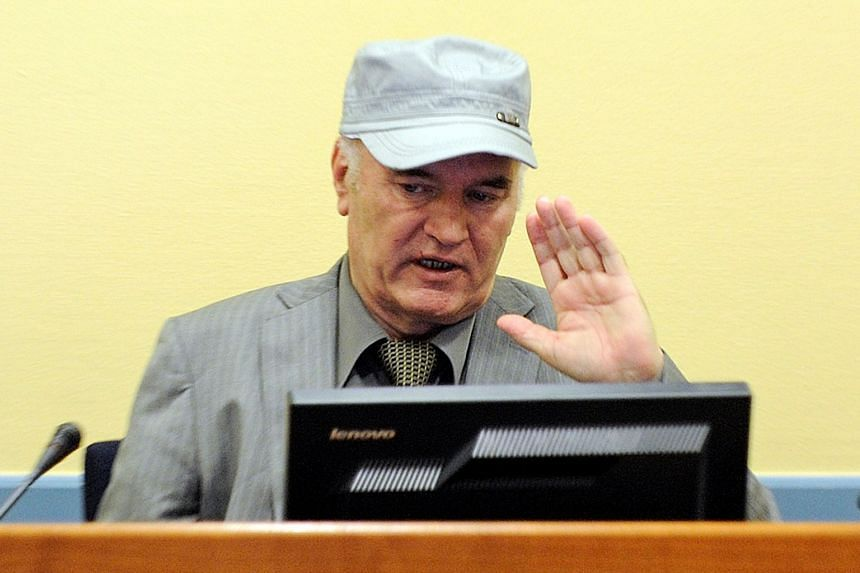 Bosnian Serb wartime general Ratko Mladic appears in court at the International Criminal Tribunal for the former Yugoslavia (ICTY), on June 3, 2011.